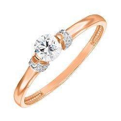 Золотое кольцо в комбинированном цвете с кристаллами Swarovski 000137603