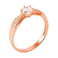 Кольцо из красного золота Эмилия с фианитами