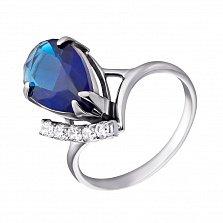 Серебряное кольцо Сюзанна с альпинитом и фианитами