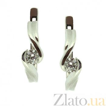 Золотые серьги с бриллиантами Берта ZMX--ED-6277\7w_K
