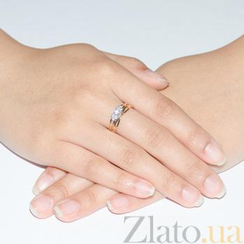 Кольцо из красного золота с фианитами Infinity 3523393