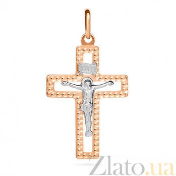 Золотой крестик Слава Христа SUF--511171нрши