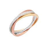 Серебряное кольцо с позолотой и цирконием Миниатюра