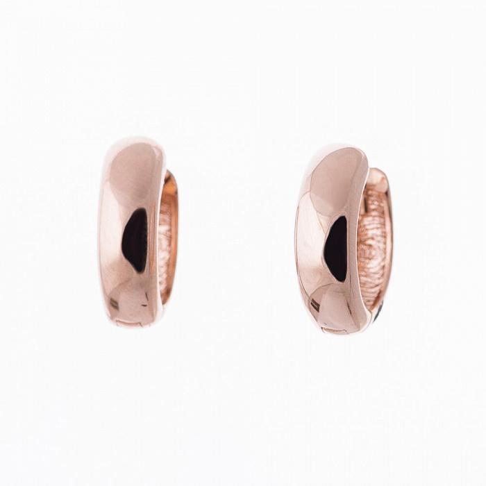 Серьги-колечки из красного золота Элла 000082625
