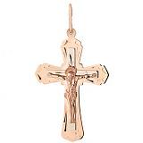 Золотой крестик Небесная Опека в евро цвете
