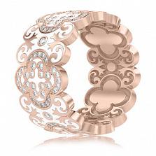 Обручальное кольцо из розового золота Калейдоскоп Любви: В ожидании Чуда