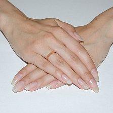 Серебряное обручальное кольцо позолоченное Объединение