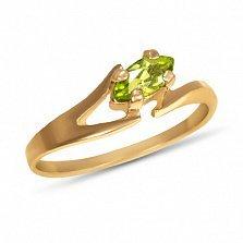Золотое кольцо Линда с хризолитом