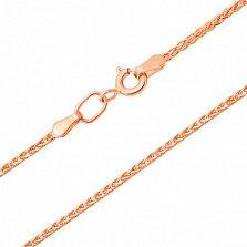 Золотой браслет Колосок в красном цвете металла