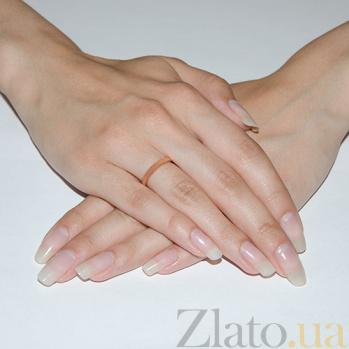 Серебряное обручальное кольцо позолоченное Объединение 000015015