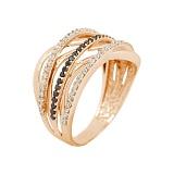 Золотое кольцо с фианитами Ангелина