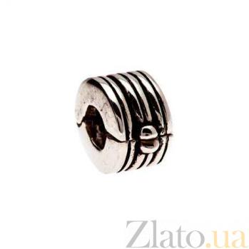 Серебряная бусина с разделителем AQA--135520045/5