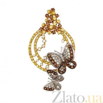 Кулон из желтого золота Аурелия с циркониями VLT--ТТ3411-1