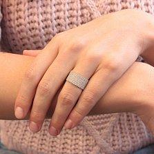 Серебряное кольцо Зимний бал в усыпке белого циркония