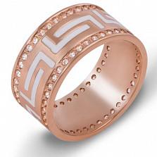 Золотое обручальное кольцо с фианитами Бесконечная любовь