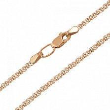 Золотая цепь Лавиния в плетении нонна с алмазной гранью, 2,5мм