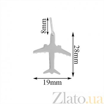 Серебряный кулон Пассажирский самолет 000059111