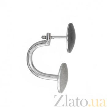 Серебряная серьга Блюз К2-2 крч-кр