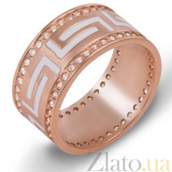 Золотое обручальное кольцо с фианитами Бесконечная любовь 10145зв