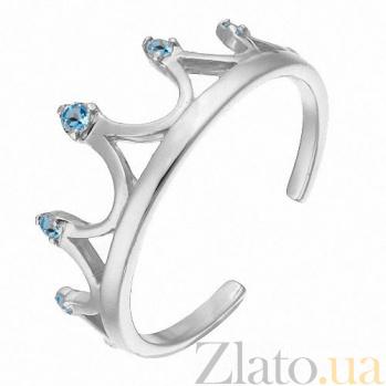 Золотое кольцо Антуанетта с голубыми фианитами SVA--1101215102гол/Фианит/Цирконий