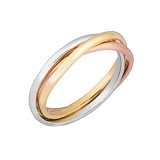 Серебряное кольцо с позолотой Рассвет