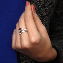Серебряное кольцо Ирен с фианитами