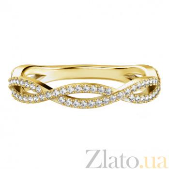 Обручальное кольцо из желтого золота с бриллиантами Ты, я и море 634