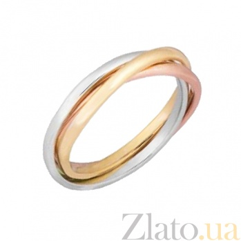 Серебряное кольцо с позолотой Рассвет 000028033
