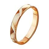 Золотое обручальное кольцо Счастливы вместе