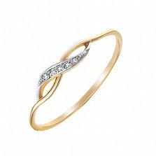 Золотое кольцо Бесконечная нежность с бриллиантами, 18