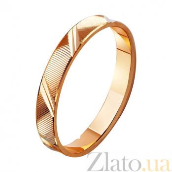 Золотое обручальное кольцо Счастливы вместе TRF--411003
