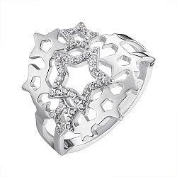 Серебряное кольцо с фианитами 000148752
