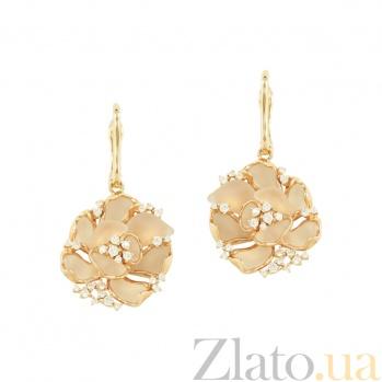 Золотые серьги с бриллиантами Розина 1С037-0111