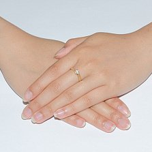 Золотое кольцо с бриллиантом Ксюша