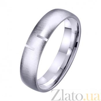 Обручальное кольцо из белого золота Сердечный союз TRF--421331