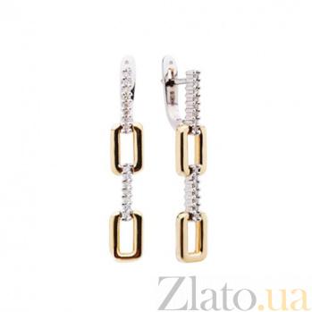 Золотые серьги с бриллиантами Ширли KBL--С2256/комб/брил