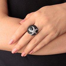 Серебряное кольцо с фианитами Ариэль