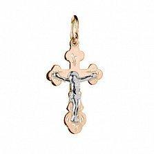 Золотой крестик Иисус Спаситель
