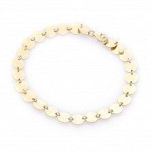 Золотой браслет Королева диско в желтом цвете с зеркальными дисками