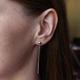 Серебряные серьги-протяжки Кнопки, 5,5мм