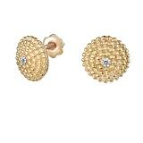 Серьги из желтого золота с бриллиантами Кора