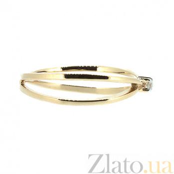 Кольцо из красного золота с бриллиантом Сима 000021456