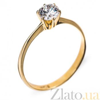 Золотое кольцо с бриллиантом Эдита R 0062