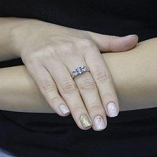 Кольцо из белого золота Шейла с голубым топазом