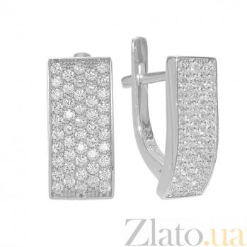 Серебряные серьги с фианитами Кирсти PTL--7с446/01