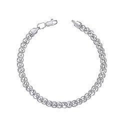 Серебряный браслет с насечками фантазийного плетения 000125461
