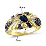 Кольцо из золота с сапфирами и бриллиантами Мелисента