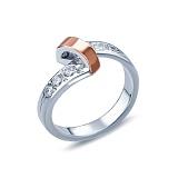 Кольцо из серебрас фианитами
