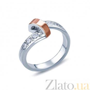 Кольцо из серебра Кортни с золотом и фианитами AQA--К532К