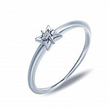 Кольцо серебряное Тилли с бриллиантом